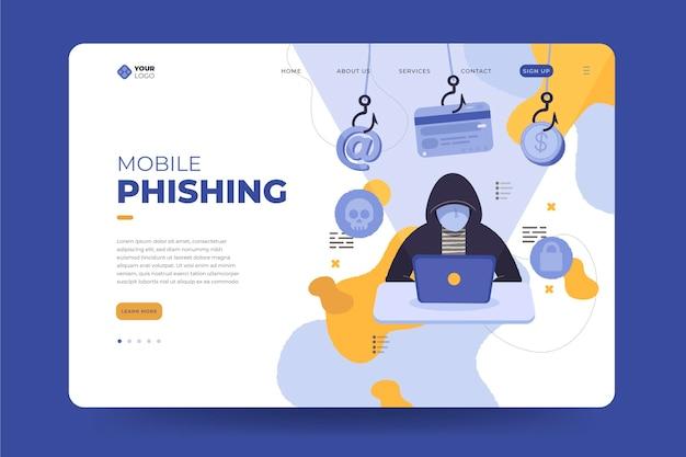 Pagina di destinazione del phishing mobile