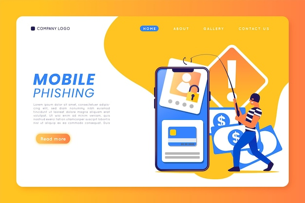 Mobile phishing template