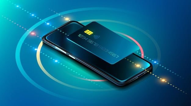 携帯電話とクレジットカードのインターネットバンキングのオンライン決済