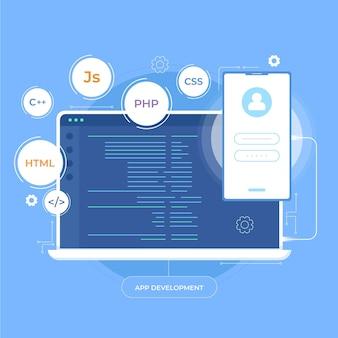 携帯電話とデスクトップアプリの開発