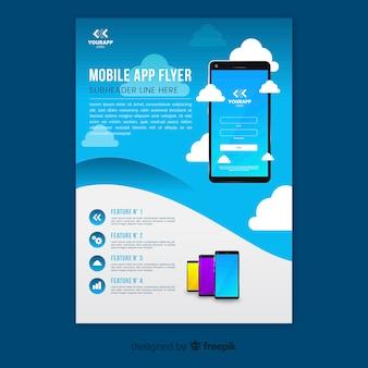 Mobile phone app flyer