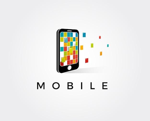 휴대 전화 앱 로고 아이콘 디자인 서식 파일 벡터 색상 기호