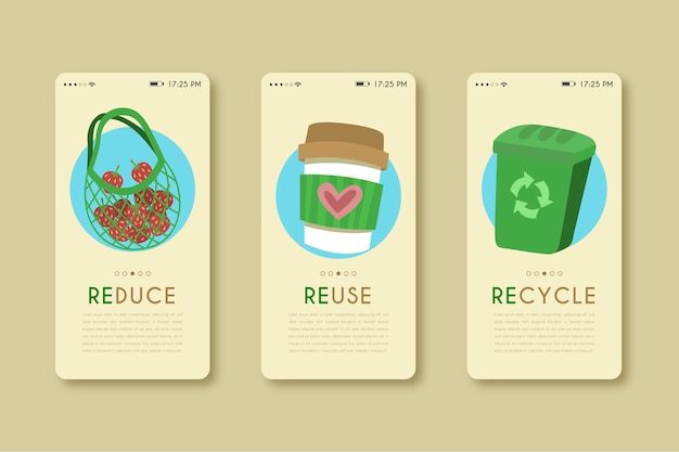 Mobile phone app for recycle