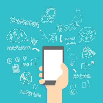 Sfondo design dei telefoni cellulari
