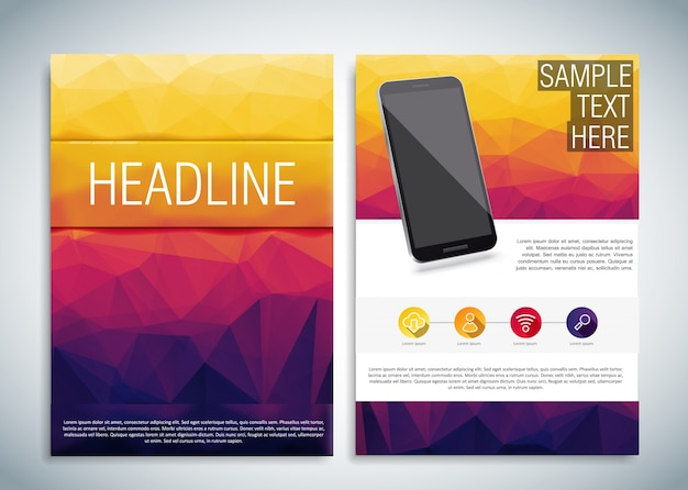 Mobile phone brochure template