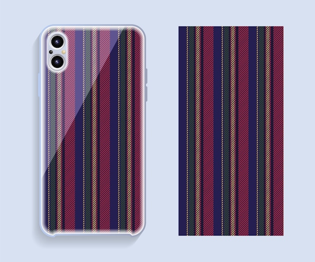 Mobile phone case design. smartphone case vector pattern.