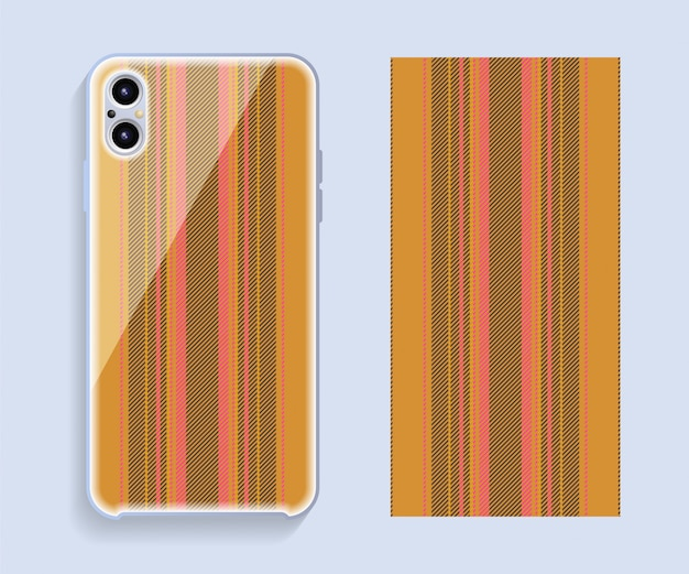 Mobile phone case design. template smartphone case pattern.