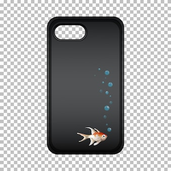 Mobile phone case with cute fish