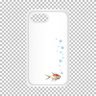 Mobile phone case with fish