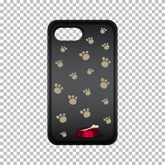 Mobile phone case with paws