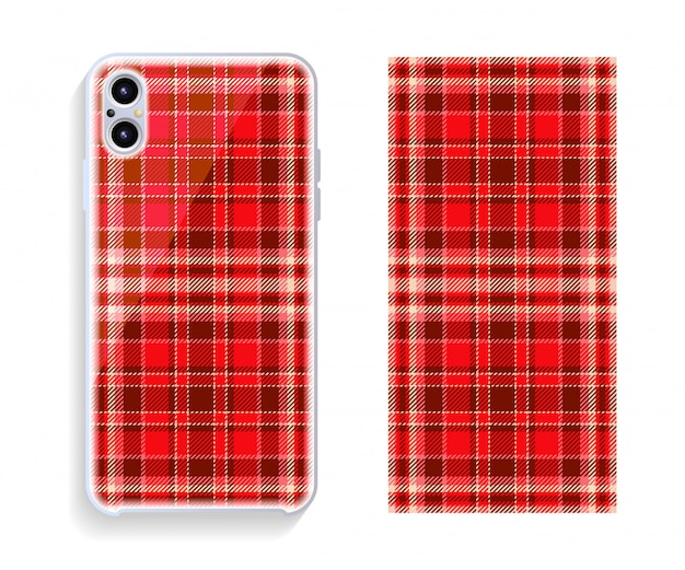 Mobile phone cover design. smartphone case vector pattern.
