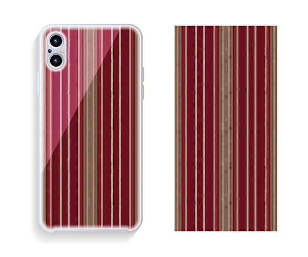 携帯電話カバーデザイン。テンプレートのスマートフォンケースパターン。