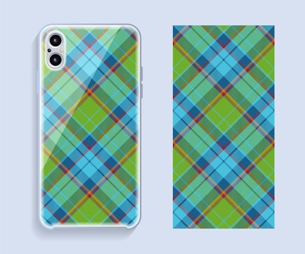 Mobile phone cover design. template smartphone case pattern.