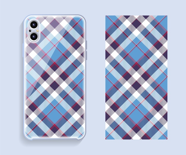 Mobile phone cover design. template smartphone case pattern.