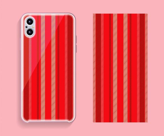 携帯電話カバーデザイン。テンプレートスマートフォンケースベクトルパターン。