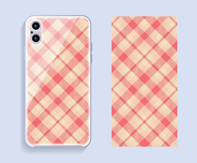 Mobile phone cover design. template smartphone case vector pattern.