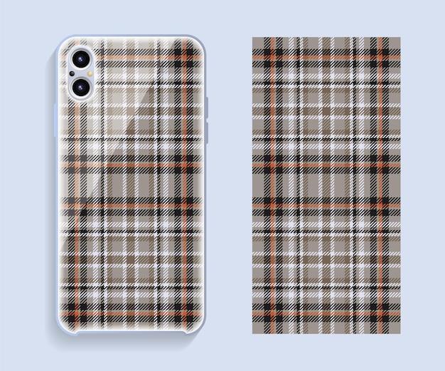 携帯電話のカバーデザイン。テンプレートスマートフォンケースベクトルパターン。