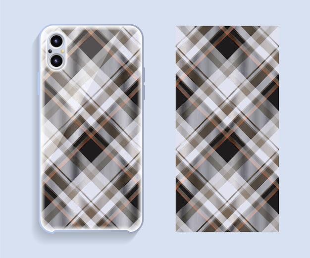 Mobile phone cover design. template smartphone case