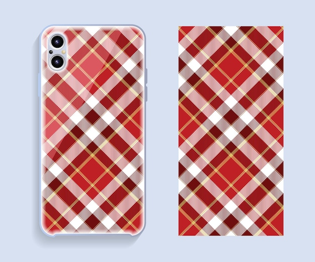 Mobile phone cover design. template smartphone case.