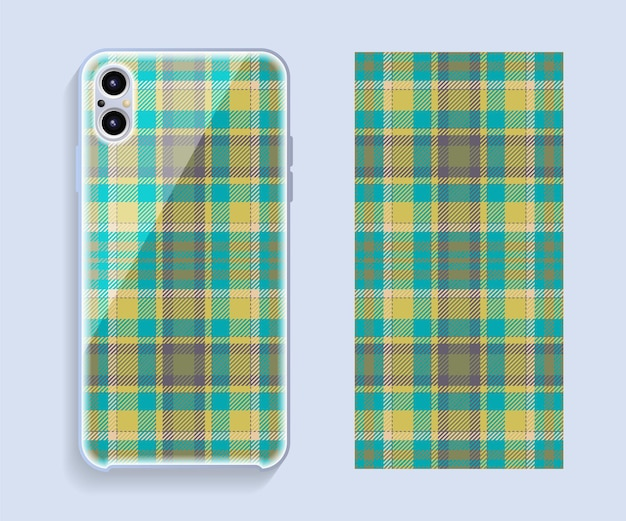 Mobile phone cover design. template smartphone case