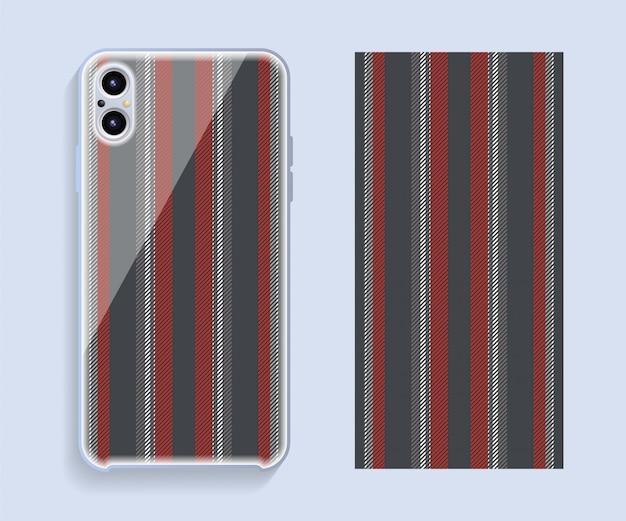 携帯電話カバー。テンプレートのスマートフォンケースパターン。