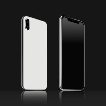 Vista anteriore e posteriore del telefono cellulare