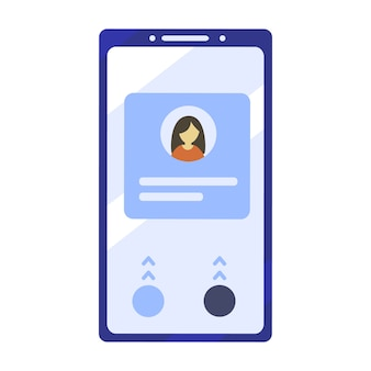 Mobile phone illustration in flat design style