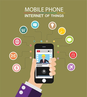 휴대폰, 사물 인터넷 사이버 기술
