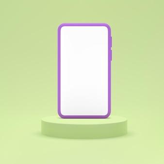 연단에 휴대 전화 모형