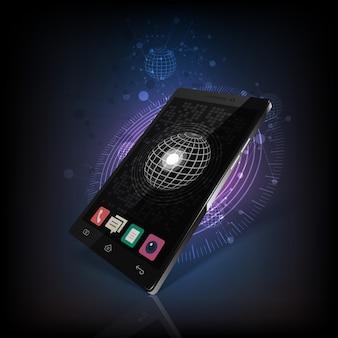 Mobile phone  shiny background