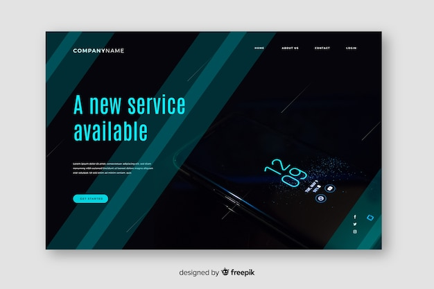 Mobile phone technology landing page