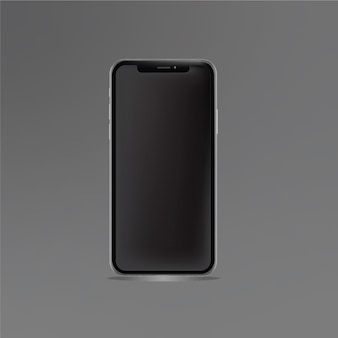 Mobile phone vector template gray blackground