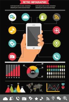 Мобильный телефон с иконами