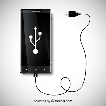 Mobile phone with usb connection