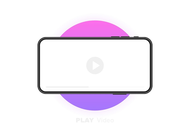 Mobile phone with video player. social media concept. video conference, streaming, blogging.  graphic .
