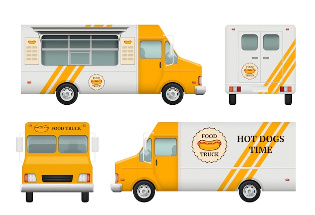 Mobile restaurant set