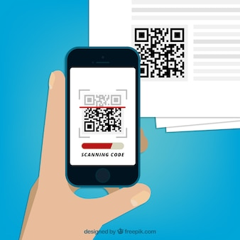 Mobile scanning qr code background