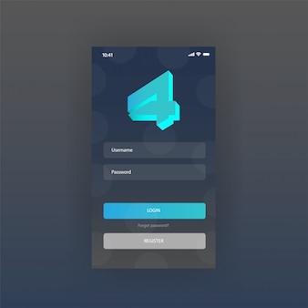 Mobile screen dashboard apps free login page