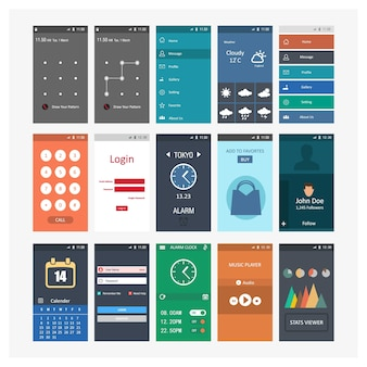 Mobile screenshots templates