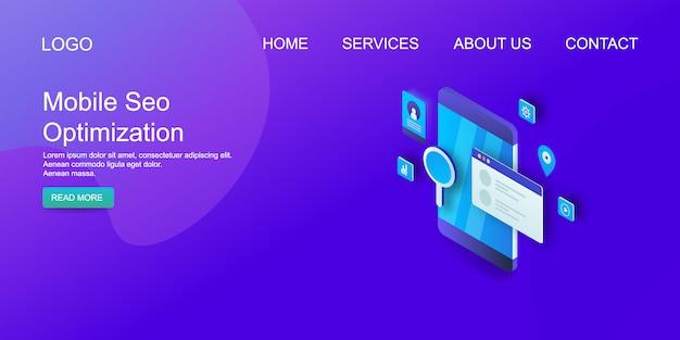 Mobile seo website template