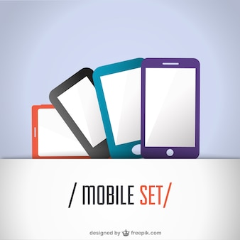 Mobile set flat design
