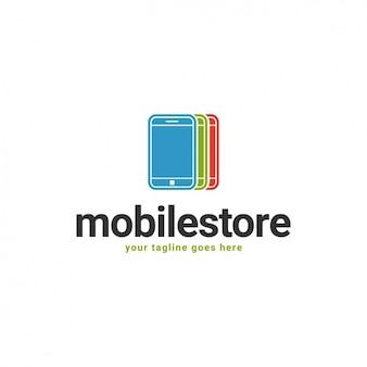 Mobile shape logo template