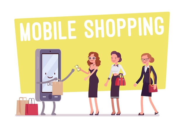 Mobile shopping for women