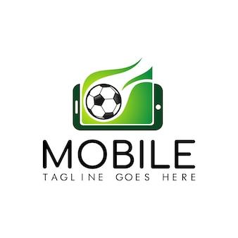 Mobile soccer logo vector
