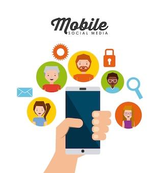 Mobile social media  design