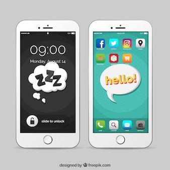 Mobile speech bubbles wallpapers