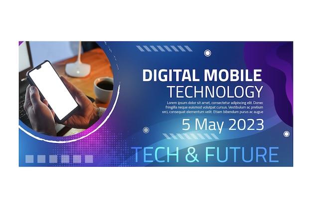 Шаблон баннера для мобильных технологий