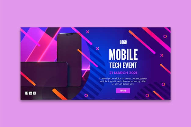 Mobile tech banner template