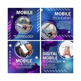 Сообщения в instagram о мобильных технологиях