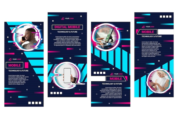 모바일 기술 인스 타 그램 스토리 컬렉션
